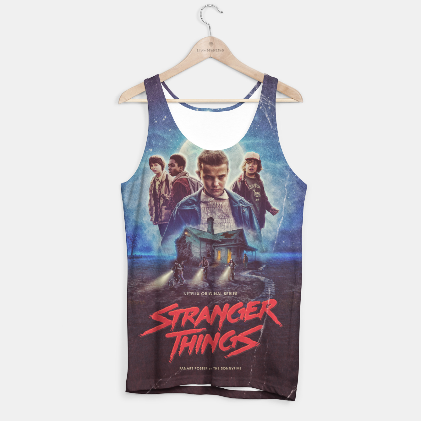 Image of Stranger Things by The Sonnyfive Tank Top - Live Heroes