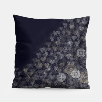 Thumbnail image of Japanese Kamon decoration blue white Pillow, Live Heroes