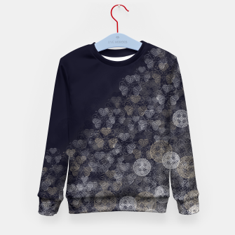 Thumbnail image of Japanese Kamon decoration blue white Kid's Sweater, Live Heroes