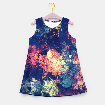 Colors flowing Girl's Summer Dress miniature
