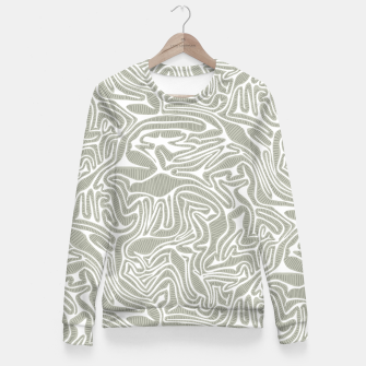 Miniature de image de Neutral Cabbage Labyrinth Fitted Waist Sweater, Live Heroes