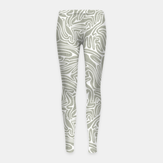 Thumbnail image of Neutral Cabbage Labyrinth Girl's Leggings, Live Heroes