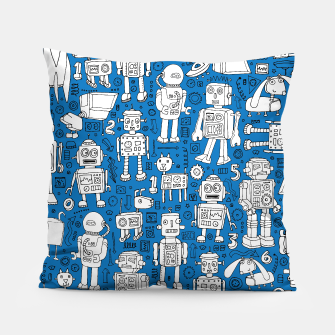 Thumbnail image of Robot Pattern - White & blue, Live Heroes