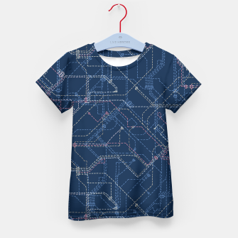 Thumbnail image of Public Transport Network Kid's T-shirt, Live Heroes