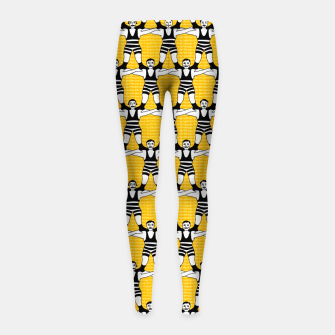 Thumbnail image of Circus Strongmen Wall Girl's Leggings, Live Heroes