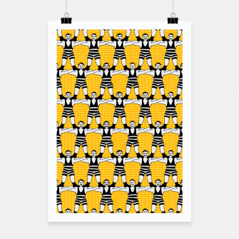 Miniatur Circus Strongmen Wall Poster, Live Heroes