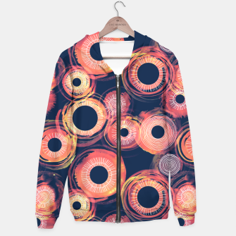 Miniatur Orange Watercolor Eclipse of the Sun Hoodie, Live Heroes