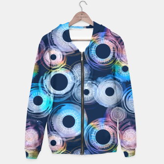 Miniatur Rainbow Watercolor Eclipse of the Sun Hoodie, Live Heroes