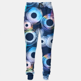 Thumbnail image of Rainbow Watercolor Eclipse of the Sun Sweatpants, Live Heroes