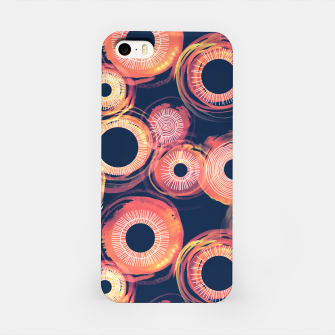Thumbnail image of Orange Watercolor Eclipse of the Sun iPhone Case, Live Heroes