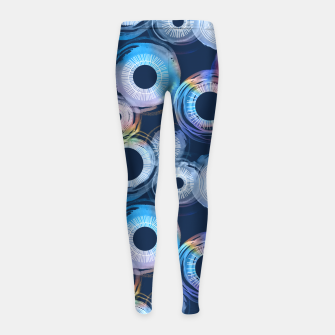 Thumbnail image of Rainbow Watercolor Eclipse of the Sun Girl's Leggings, Live Heroes