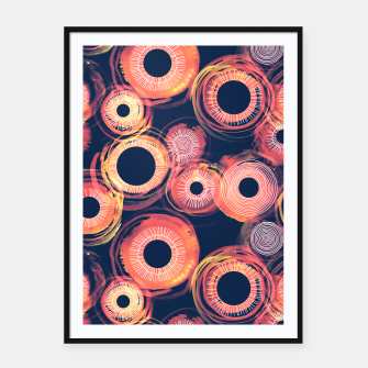 Thumbnail image of Orange Watercolor Eclipse of the Sun Framed poster, Live Heroes