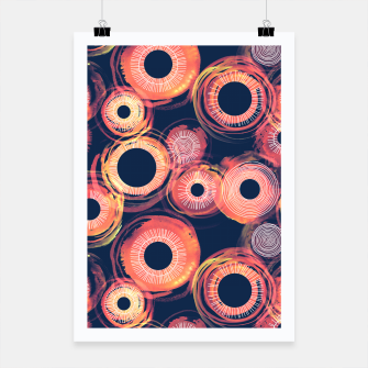 Thumbnail image of Orange Watercolor Eclipse of the Sun Poster, Live Heroes