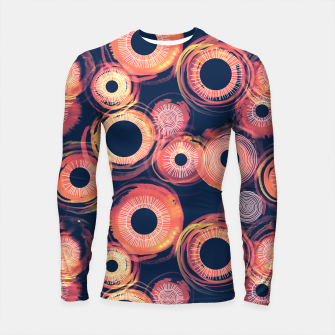 Miniature de image de Orange Watercolor Eclipse of the Sun Longsleeve Rashguard , Live Heroes