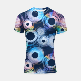 Thumbnail image of Rainbow Watercolor Eclipse of the Sun Shortsleeve Rashguard, Live Heroes