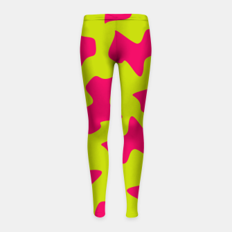 Thumbnail image of Crazy Animal Print Girl's Leggings, Live Heroes