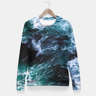 Miniature de image de Ocean Heart Fitted Waist Sweater, Live Heroes