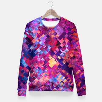 Miniature de image de Abstract Design Fitted Waist Sweater, Live Heroes