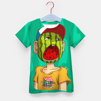 Thumbnail image of Watermelon boy Kid's T-shirt, Live Heroes
