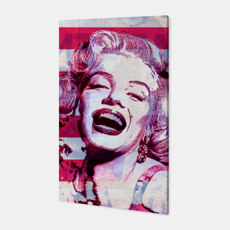 Marilyn portrait nº3 Canvas Bild der Miniatur