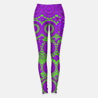 Thumbnail image of Geo Green Leggings, Live Heroes