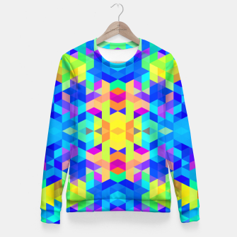 Abstract Colorful Pattern Fitted Waist Sweater Bild der Miniatur