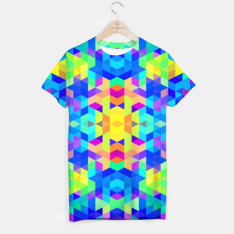 Abstract Colorful Pattern T-shirt Bild der Miniatur