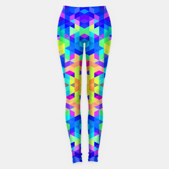 Miniatur Abstract Colorful Pattern Leggings, Live Heroes