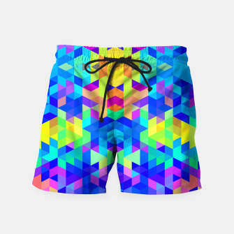 Abstract Colorful Pattern Swim Shorts Bild der Miniatur