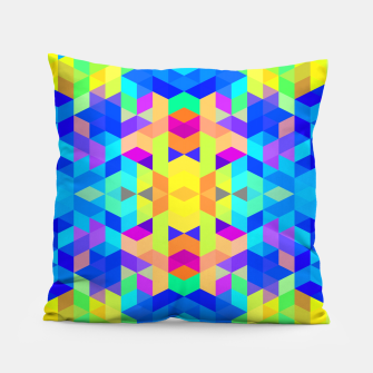 Abstract Colorful Pattern Pillow Bild der Miniatur