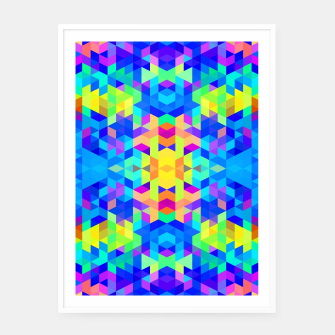 Abstract Colorful Pattern Framed poster Bild der Miniatur