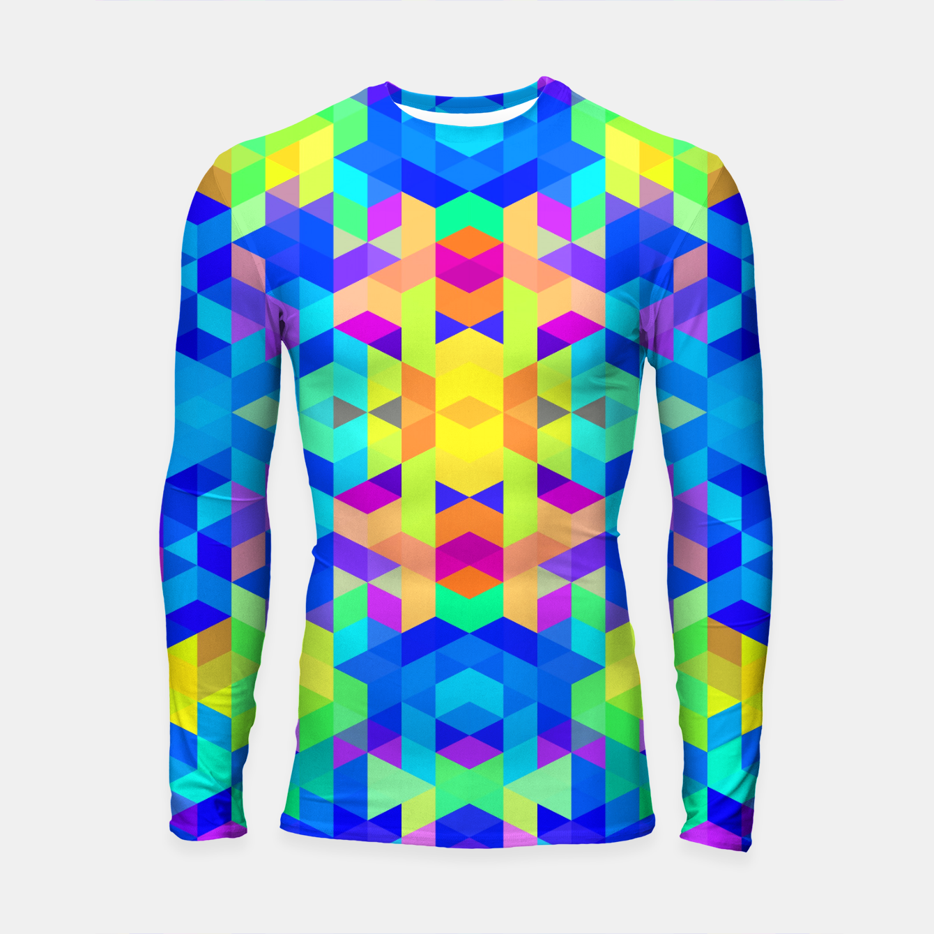 Foto Abstract Colorful Pattern Longsleeve Rashguard  - Live Heroes