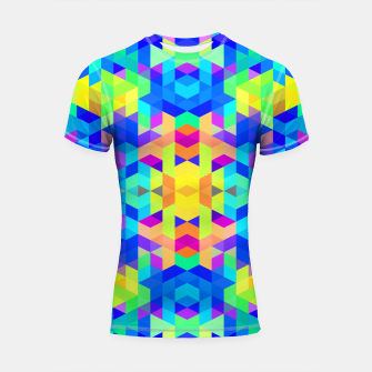 Abstract Colorful Pattern Shortsleeve Rashguard Bild der Miniatur