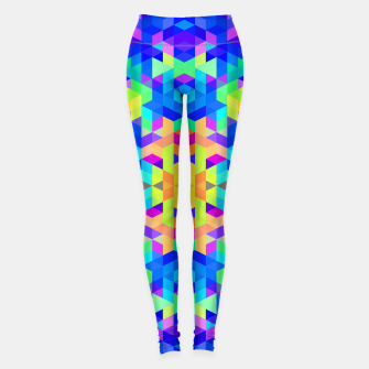 Abstract Colorful Pattern Leggings Bild der Miniatur