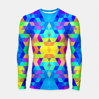 Abstract Colorful Pattern Longsleeve Rashguard  Bild der Miniatur