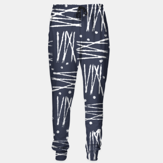 Thumbnail image of Abstract Pattern - Navy and White Sweatpants, Live Heroes