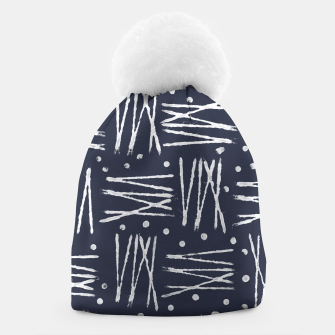 Imagen en miniatura de Abstract Pattern - Navy and White Beanie, Live Heroes