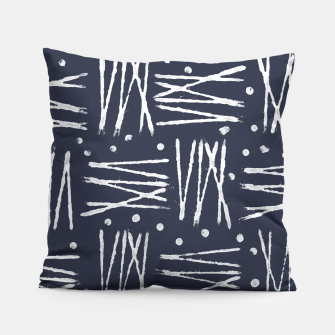 Thumbnail image of Abstract Pattern - Navy and White Pillow, Live Heroes