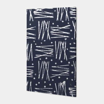 Miniatur Abstract Pattern - Navy and White Canvas, Live Heroes