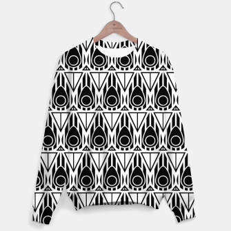 Miniatur Black and White Nouveau Sweater, Live Heroes