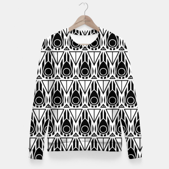 Miniatur Black and White Nouveau Fitted Waist Sweater, Live Heroes