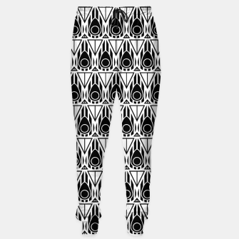 Miniatur Black and White Nouveau Sweatpants, Live Heroes