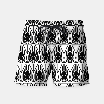 Miniatur Black and White Nouveau Swim Shorts, Live Heroes