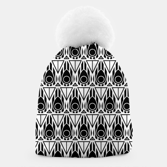Miniatur Black and White Nouveau Beanie, Live Heroes