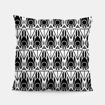 Miniatur Black and White Nouveau Pillow, Live Heroes