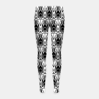 Miniatur Black and White Nouveau Girl's Leggings, Live Heroes