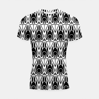 Miniatur Black and White Nouveau Shortsleeve Rashguard, Live Heroes
