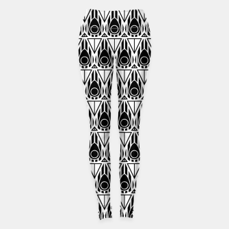 Miniatur Black and White Nouveau Leggings, Live Heroes