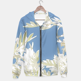 Thumbnail image of White Plants over Blue Sky Hoodie, Live Heroes