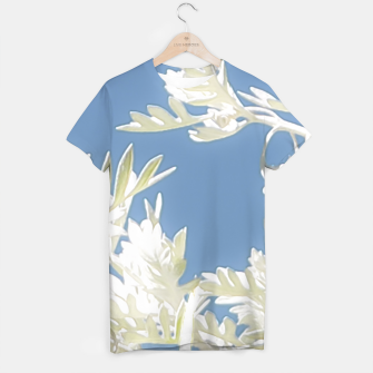 Thumbnail image of White Plants over Blue Sky T-shirt, Live Heroes